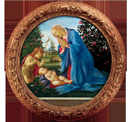 【正式画像】6 ボッティチェリ《聖母子と洗礼者聖ヨハネ》額あり-2