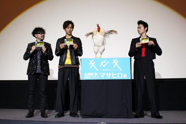 smallキセキ大阪舞台挨拶2(左から兼重淳監督、松坂桃李、菅田将暉)S