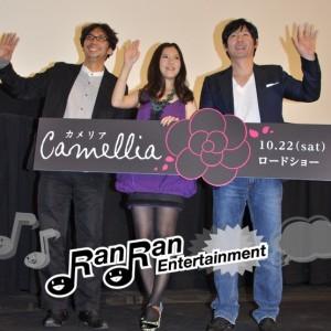 ソル・ギョング、吉高由里子が、映画『カメリア』の舞台挨拶に登壇!