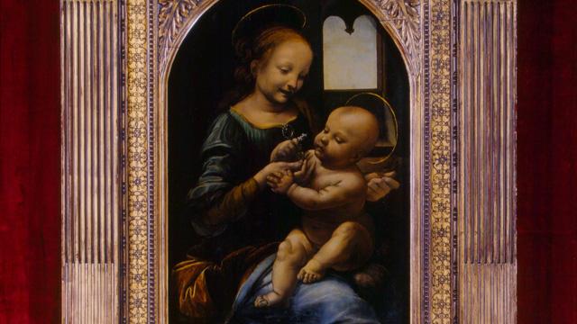 ダ・ヴィンチ「ブノワの聖母-Hermitage1